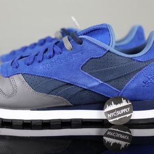 Reebok Stash Classic Leather Ultramarine Blue Grey